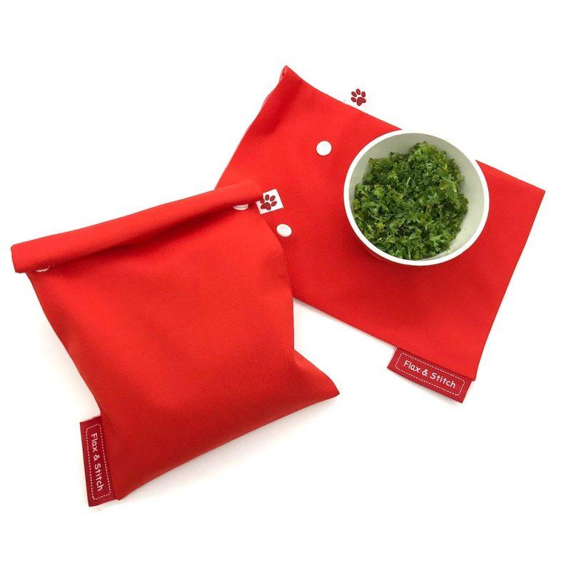 wiederverwendbare tiefkuelbeutel kraueter flax stitch